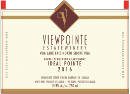 2016 Ideal Pointe Barrel Fermented Chardonnay VQA