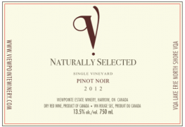 2012 Naturally Selected Pinot Noir VQA
